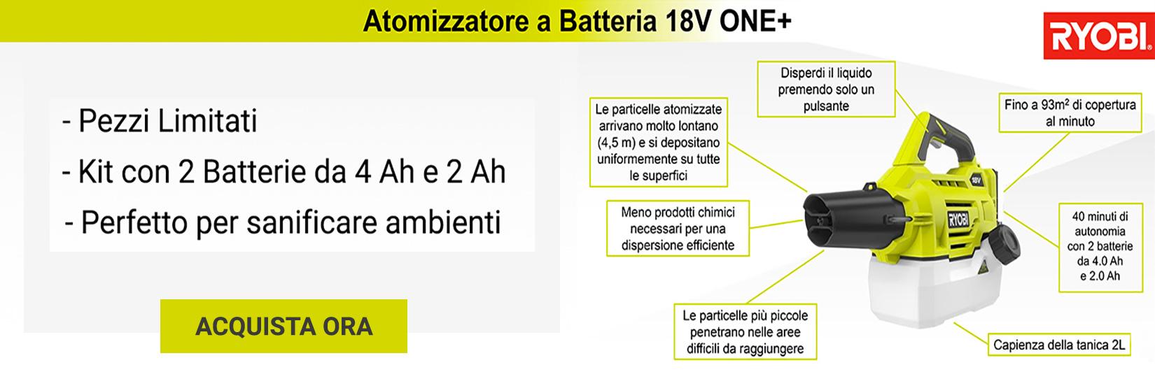 Atomizzatore Ryobi a batteria RY18FGA.