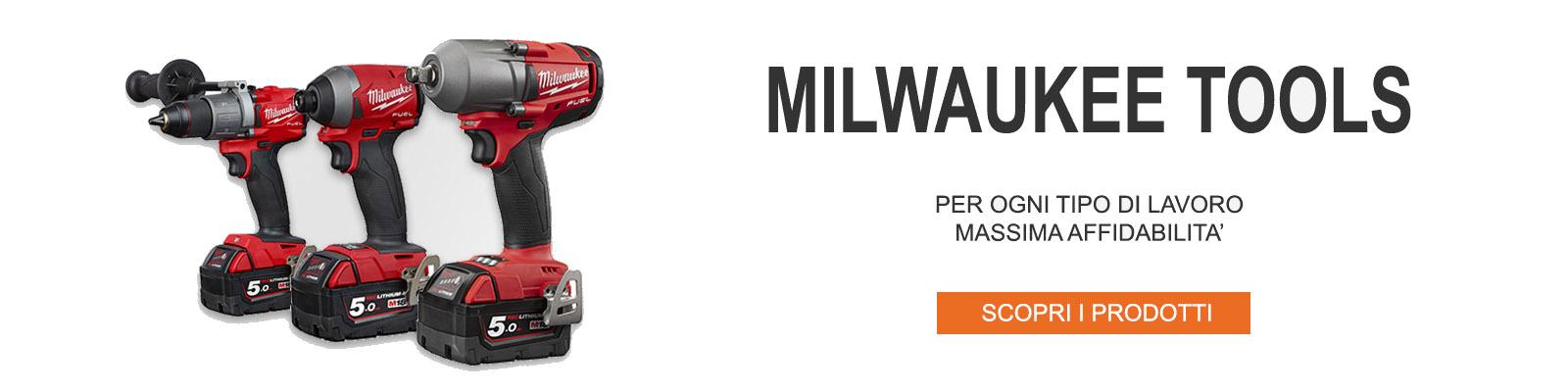 Milwaukee tools: elettroutensili, trapani, avvitatori, smerigliatrici a batteria