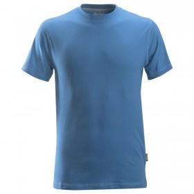 T-shirt classica in cotone azzurra