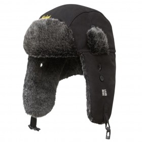 berretto invernale con paraorecchie nero