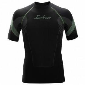 9426 maglietta intima senza cuciture Flexiwork nero e grigio