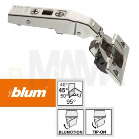 Cerniere per mobili a 45 gradi sormonto massimo | Blum