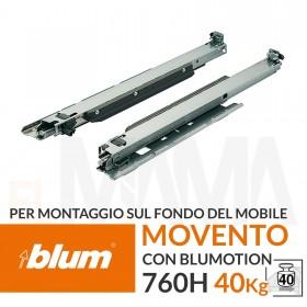 Guide per montaggio sul fondo del mobile blum movento 760H 40 kg