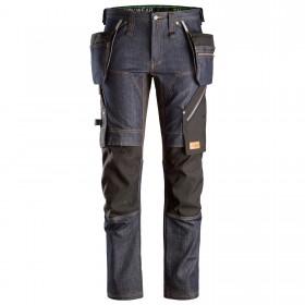 Pantaloni da lavoro con tasche esterne FlexiWork Denim 6955 Snickers