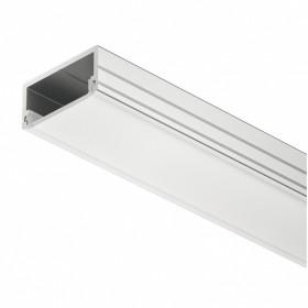 Profilo da applicare per strisce led. Altezza 9,5 mm