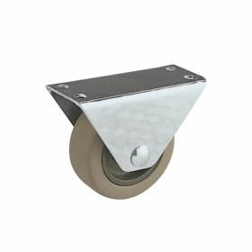 Ruota con piastra fissa in gomma diametro 40mm - Rocarr 21/NG
