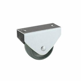 Ruota fissa con piastra in acciaio zincato Rocarr 322/N