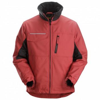 giacca invernale rip stop rosso e nero