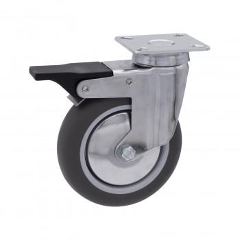 Ruote per mobili e arredamento, con piastre girevoli e sistema di bloccaggio