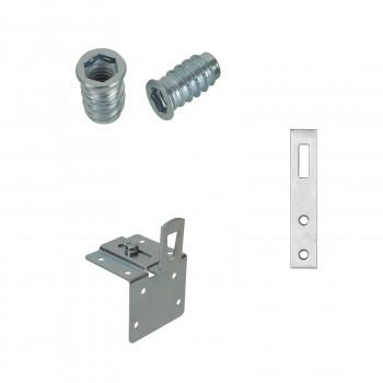 Sistemi di giunzione per mobili: boccole, attaccaglie e reggipensili