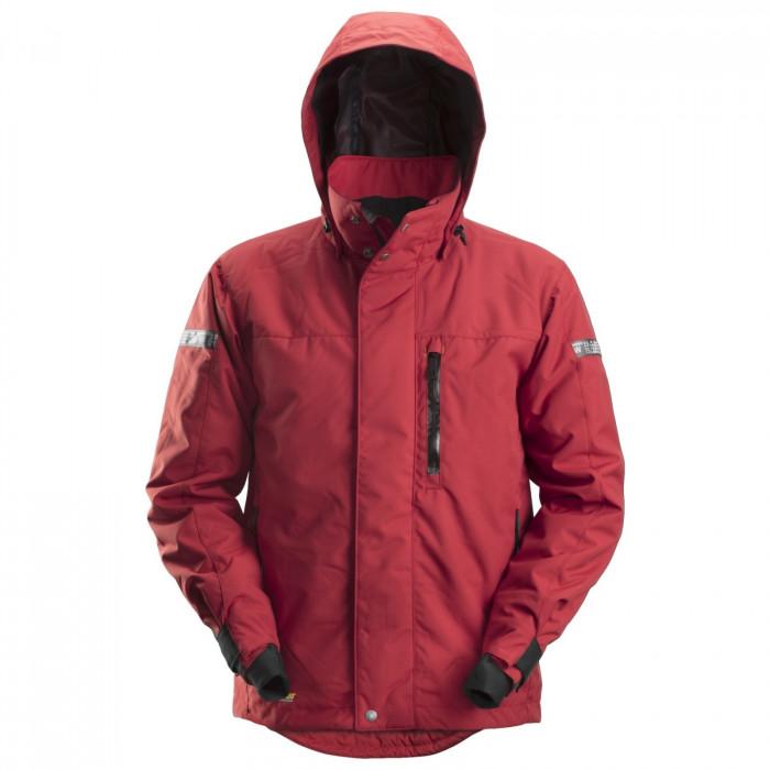 giacca invernale impermeabile di Snickers rosso e nero