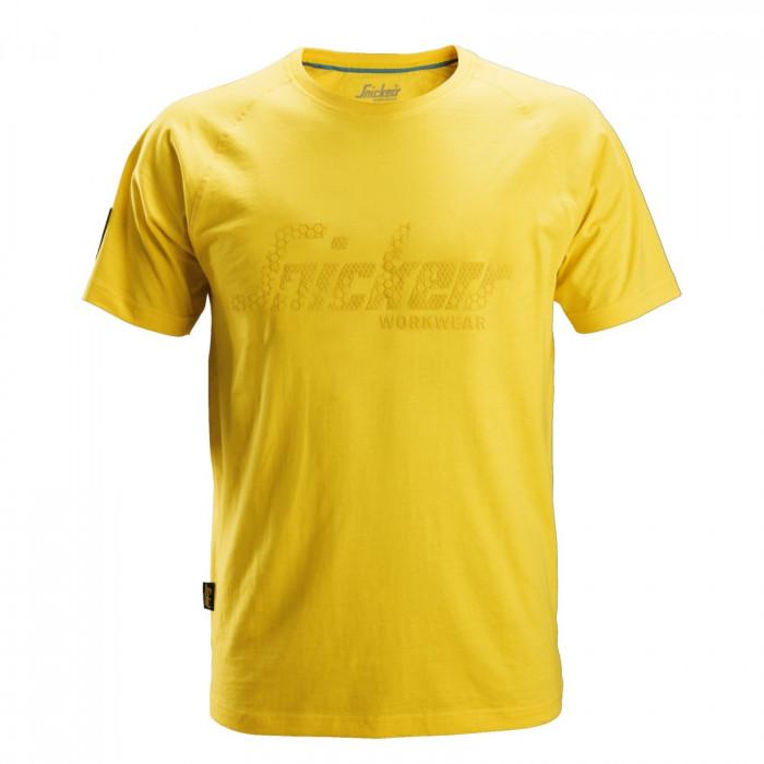 T-Shirt con logo di Snickers giallo