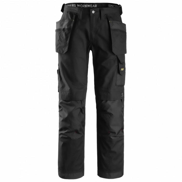 Pantalone Canvas con tasche Snickers nero