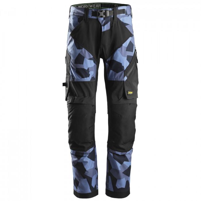 Flexiwork pantaloni da lavoro Snickers Workweare navy camo nero