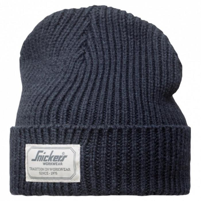 berretto in misto lana navy
