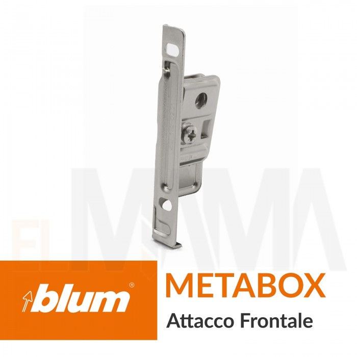 Attacco gancio per frontale cassetto tipo Metabox di Blum