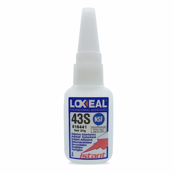 Adesivo istantaneo cianoacrilato loxeal 43S media viscosità