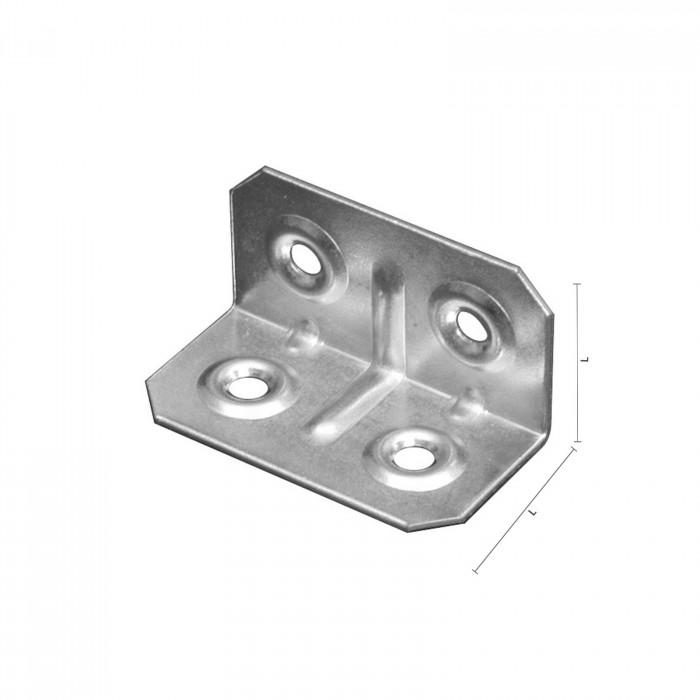 Piastrinza zincata ad angolo per fissaggio Mobili 40x20x20mm