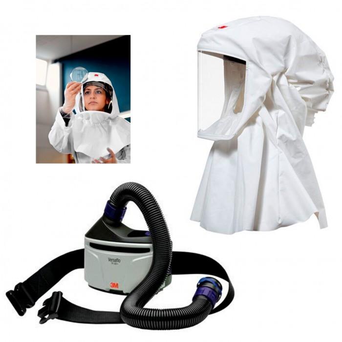 Respiratore elettroventilato 3M con maschera a cappuccio