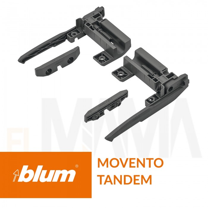 Sistema di bloccaggio ad estrazione completa di piani con guide Blum