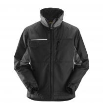 giacca da lavoro in tessuto rip stop grigio e nero