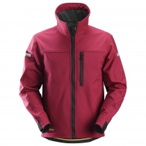 giacca Snickers softshell rosso e nero