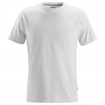 Maglietta classica in cotone grigio chiaro