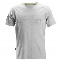 Maglietta Snickers con logo grigio melange