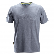 T-Shirt maniche corte blu melange