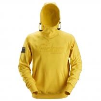 Snickers felpa con logo e cappuccio giallo