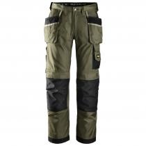 Snickers pantalone da lavoro Duratwill verde e nero