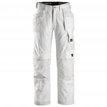 Snickers Workweare pantaloni da lavoro con tasche bianco