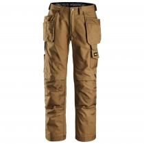 Canvas pantalone da lavoro con tasche Snickers marrone