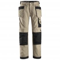 Snickers pantaloni da lavoro Canvas Khaki e nero