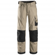 pantalone senza tasche modello canvas + Snickers Khaki e nero