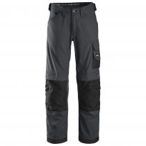 Pantalone Snickers Workweare Canvas senza tasche grigio e nero