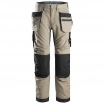 Snickers pantalone con tasche esterne LiteWork Khaki e nero