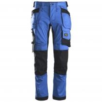 Pantalone da lavoro con tasche tessuto Stretch Snickers blu e nero