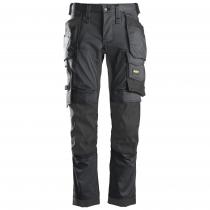 pantaloni Stretch AllroundWork Snickers grigio e nero