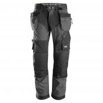 Snickers Workweare pantaloni leggeri Flexiwork grigio e nero