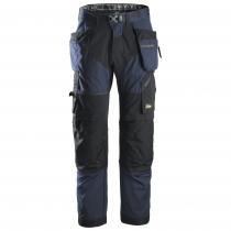 pantalone da lavoro Snickers Workweare leggero Flexiwork navy e nero