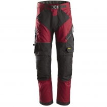 Snickers Workweare pantaloni da lavoro Flexiwork rosso e nero
