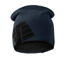 berretto Snickers reversibile con logo navy e nero