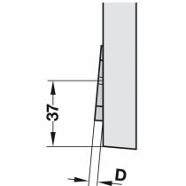 Schema posizionamento cuneo per basette piastrine per mobile Blum