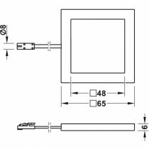 Schema di montaggio faretto led 12V loox 2051 Hafele