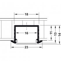 Schema installazione profilo ad incasso per strisce led