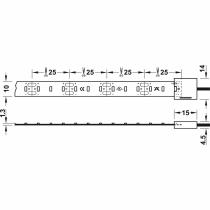 Sezioni di taglio ogni 25mm Strip led Loox Led 2029 Hafele