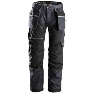 Pantaloni Snickers Workweare Ruffwork denim jeans nero