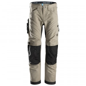 pantaloni superleggeri Snickers Workweare khaki e nero