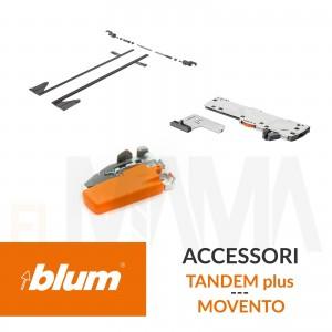 Accessori per guide cassetti Blum: Ganci, Stabilizzatore, Tip-on